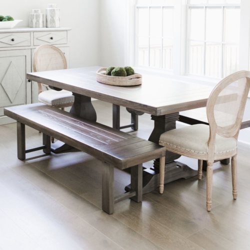 Weston Trestle farm table in a dining room