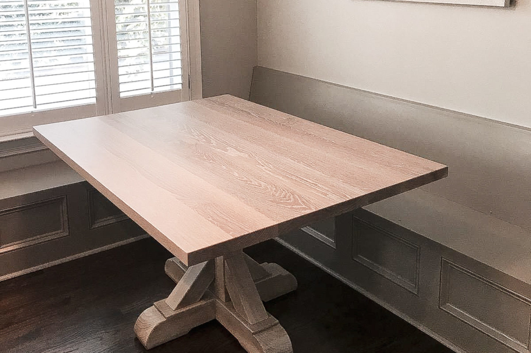 jameson pedestal kitchen table and banquette