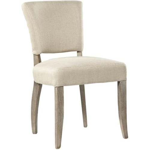 simple linen side chair