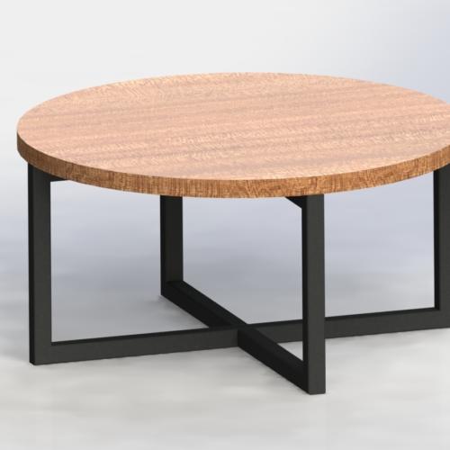 36'' BRAYLON PEDESTAL ROUND COFFEE TABLE