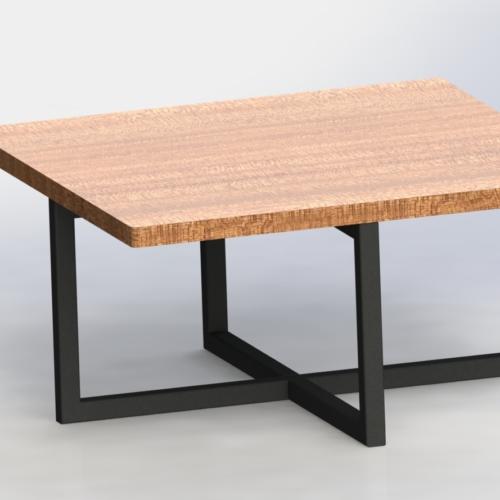 36'' BRAYLON PEDESTAL SQUARE COFFEE TABLE